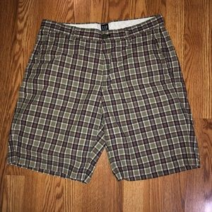 Plaid Gap Shorts Size 33